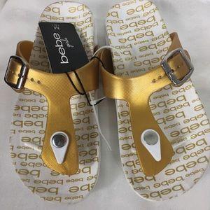 bebe Shoes - Bebe Golden Sandals Girls Brand New